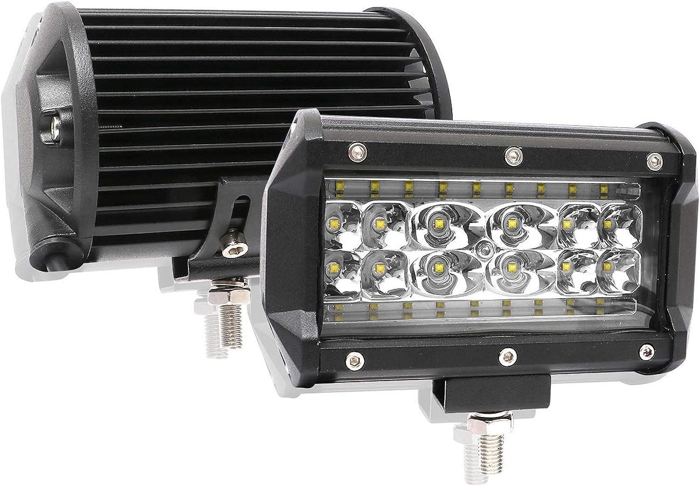 JAYLONG 2 Pcs 168W LED Work Light Offroad Flood Beam Driving Lamp Truck SUV Boat 28 LED 12V 24V