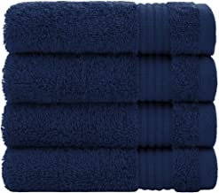 Luxury Turkish Cotton Washcloths for Easy Care, Extra Soft & Absorbent, Fingertip Towels, 4 Pack Washcloth Set by United H...