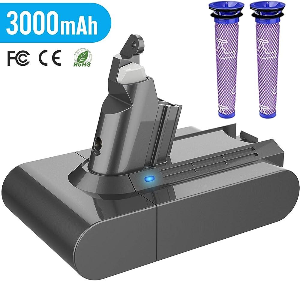 Yaber 3000mah batteria di ricambio per dyson v6