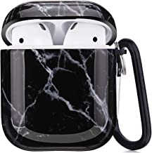 Black Black//White Wireless Charging Shockproof Cascara Designer Luxury Soft Silicone Protective Airpods 1 and 2 Cover Skin Case with Lanyard Hook Off