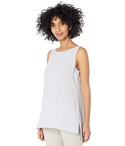 Eileen Fisher Bateau Neck Long Shell (India Sky) Women