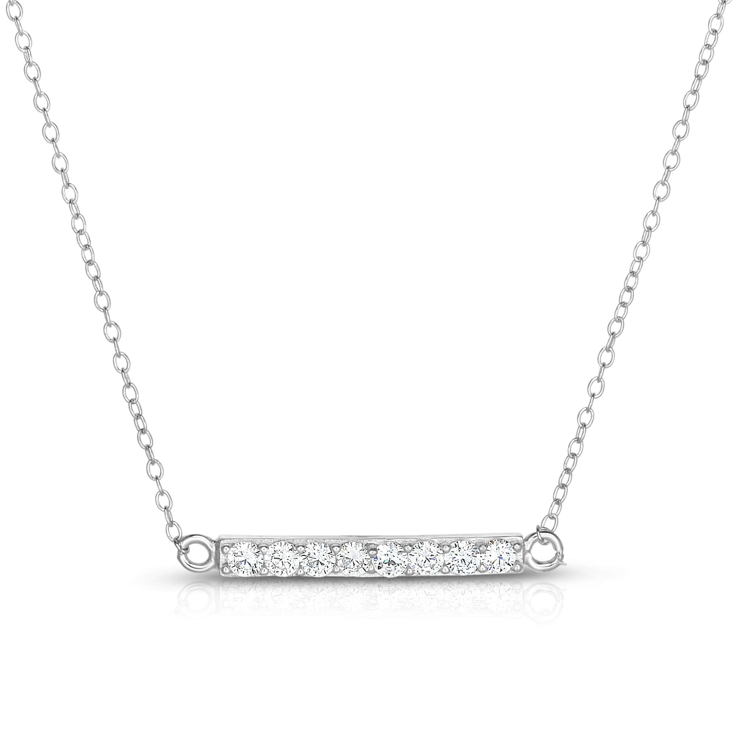 16 Length 925 Sterling Silver Rhodium-plated 18in Heart Necklace