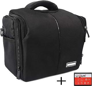 Bolsa de Paquete EOS para Canon SLR Camera EOS 4000D 2000D 1300D 1200D + Batería de Reemplazo de Calidad LP-E10
