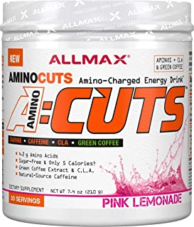 ALLMAX Nutrition A:CUTS, Amino Charged Energy Drink, Pink Lemonade, 210g