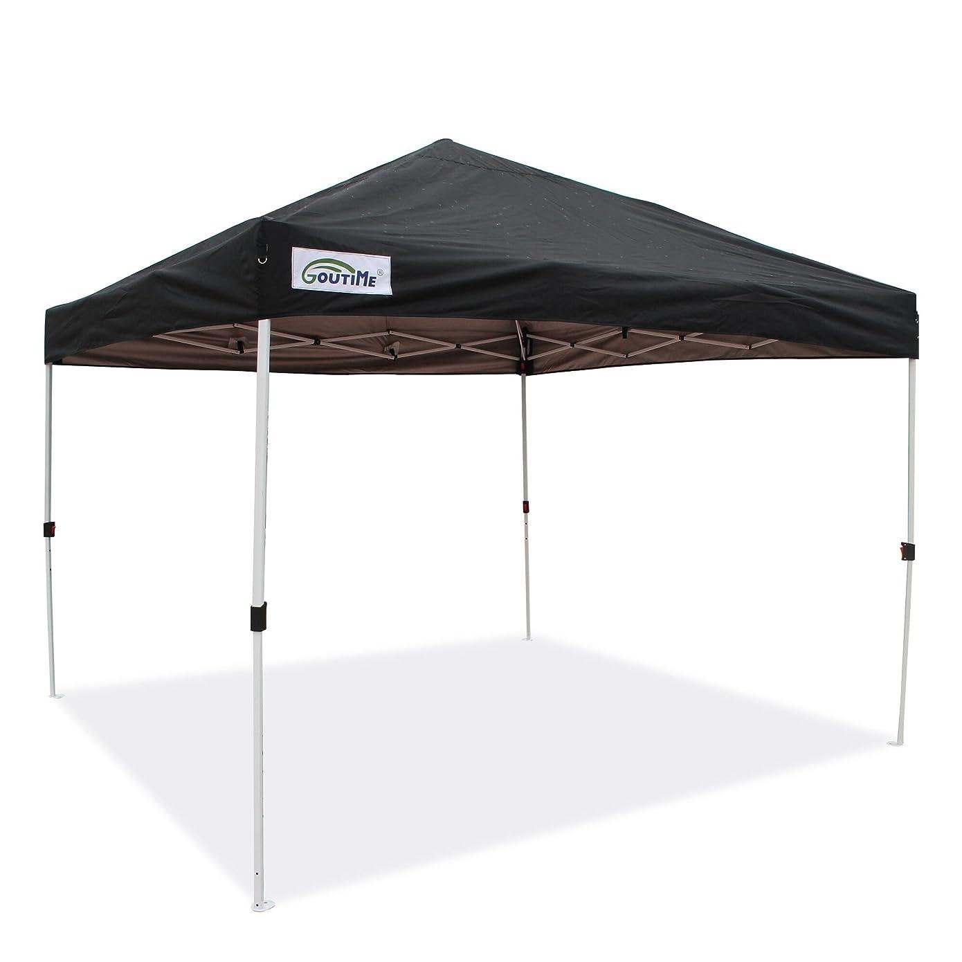 スイング夏熟した組立て簡単!ワンタッチタープテント 3m/6m イベント用テント スチールフレーム 高耐水加工&シルバーUVカットコーティング 紫外線カット 遮熱日除け ホィールバッグ付き 持ち運び便利 ウエイトバッグ テント重し