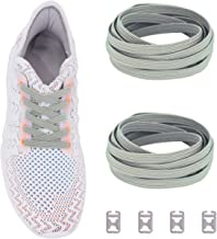 Ceratown No Tie Shoelaces with Elastic Band and Stainless Steel Tabs, No Knot Tieless Stretch Replacement Shoelaces for All Kid and Adult Shoes