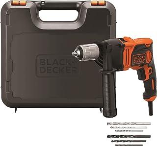 comprar comparacion BLACK+DECKER BEH850K-QS - Taladro Percutor con Cable 850W, Portabrocas 13Mm, incluye 6 brocas y maletín