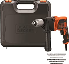 Black+Decker BEH850K-QS 850W 1-speed klopboormachine (klopboor, 13 mm snelspanboorhouder, constante rechts-/linksloop, rub...