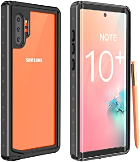 Galaxy Note 10+ Plus Case, Red2Fire Full Body with Built-in Screen Protector, Clear Sound, Heavy Duty Shockproof Rugged Cover Case for Samsung Galaxy Note 10+ Plus (Black/Clear)