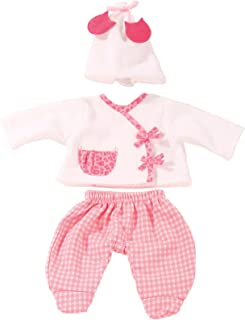Götz 3402588 Babykombi Leo & Karo Gr. S - 3-teilige Puppenkleidung für Babypuppen mit Einer Größe von 30 - 33 cm - bestehend aus Mütze, Jacke, Hose