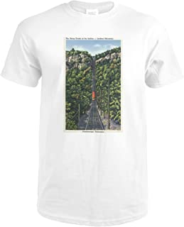 Chattanooga, Tennessee - Lookout Mountain Incline Rail 34308 (Premium White T-Shirt X-Large)
