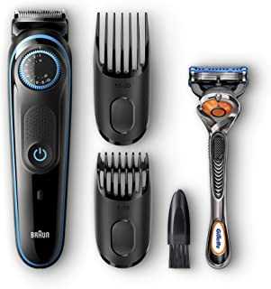 Braun BeardTrimmer BT5040 Beard Trimmer & Hair Clipper, Black/Blue