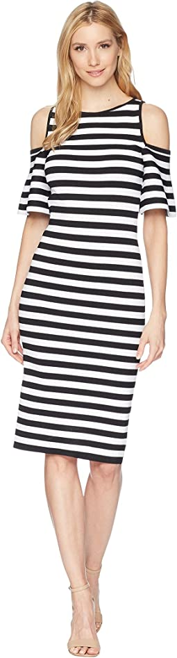 MICHAEL Michael Kors - Stripe Off the Shoulder Dress
