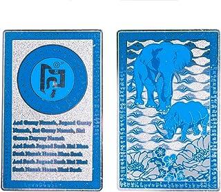DMtse Feng Shui Blue Rhino Elephant Anti Burglary Deceived Talisman Card