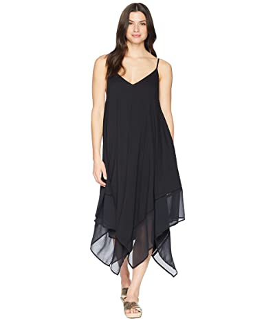 Tommy Bahama Cotton Modal Scarf Dress Cover-Up (Black) Women