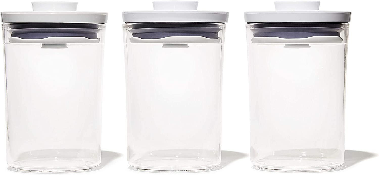 OXO Good Grips 3 Piece Mini Round POP Canisters