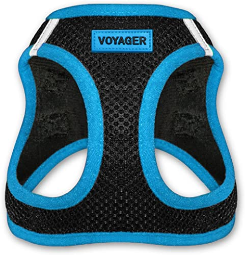 Best Pet Supplies Voyager - All Weather No Pull Step-in Mesh Dog Harness with Padded Vest for Puppy and Cats - Blue, Small (207-BU-S) product image