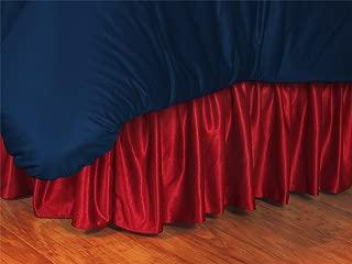 MLB Washington Nationals Bed Skirt, Twin, Bright Red