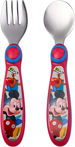 The First Years Disney Baby Mickey Mouse Stainless Steel Flatware for Kids