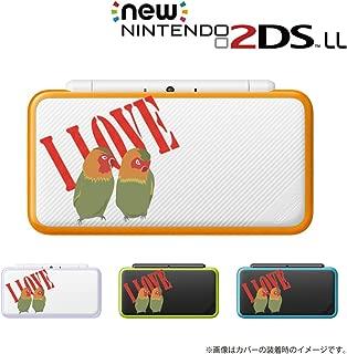 new Nintendo 2DS LLシリーズ 専用 カバー ケース ( ハード ) ニンテンドー インコ LOVE ラブ 透明 クリア