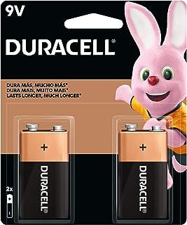 Duracell Coppertop Alkaline 9V Battery, 2 Pack