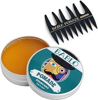 バブロ ポマード(BABLO POMADE) ストロング ホールド メンズ 整髪料 水性 ヘアグリース ヘアワックス (単品&メッシュコーム付)