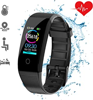 DKSPORT Fitness Tracker HR, Activity Tracker Watch with Heart Rate Monitor, IP68 Waterproof Resistant Smart Bracelet with Sleep Monitor Calorie Counter Pedometer Watch for Kids Women and Men