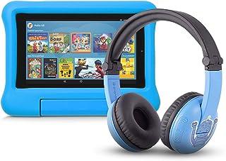 Fire 7 Kids Edition Tablet (16 GB, blaue kindgerechte Hülle) mit PlayTime Bluetooth Headset (Altersklasse: 3 7 Jahre)