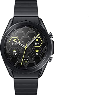 Samsung Galaxy Watch3 Bluetooth Smartwatch, Voor Android, Draaibare Lunette, 4G, Fitnesstracker, Groot Display, 45 mm, Tit...