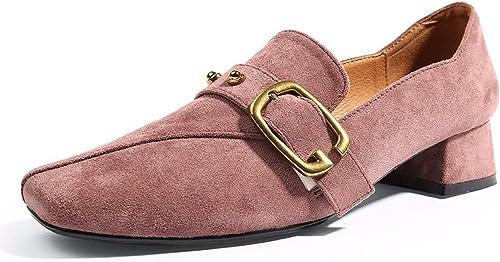 KOKQSX-Solo zapatos Retro los zapatos de tacón Alto zapatos de Tacones en Bruto Salvaje los zapatos.