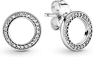 comprar comparacion Pandora Pendientes de botón Mujer plata - 290585CZ