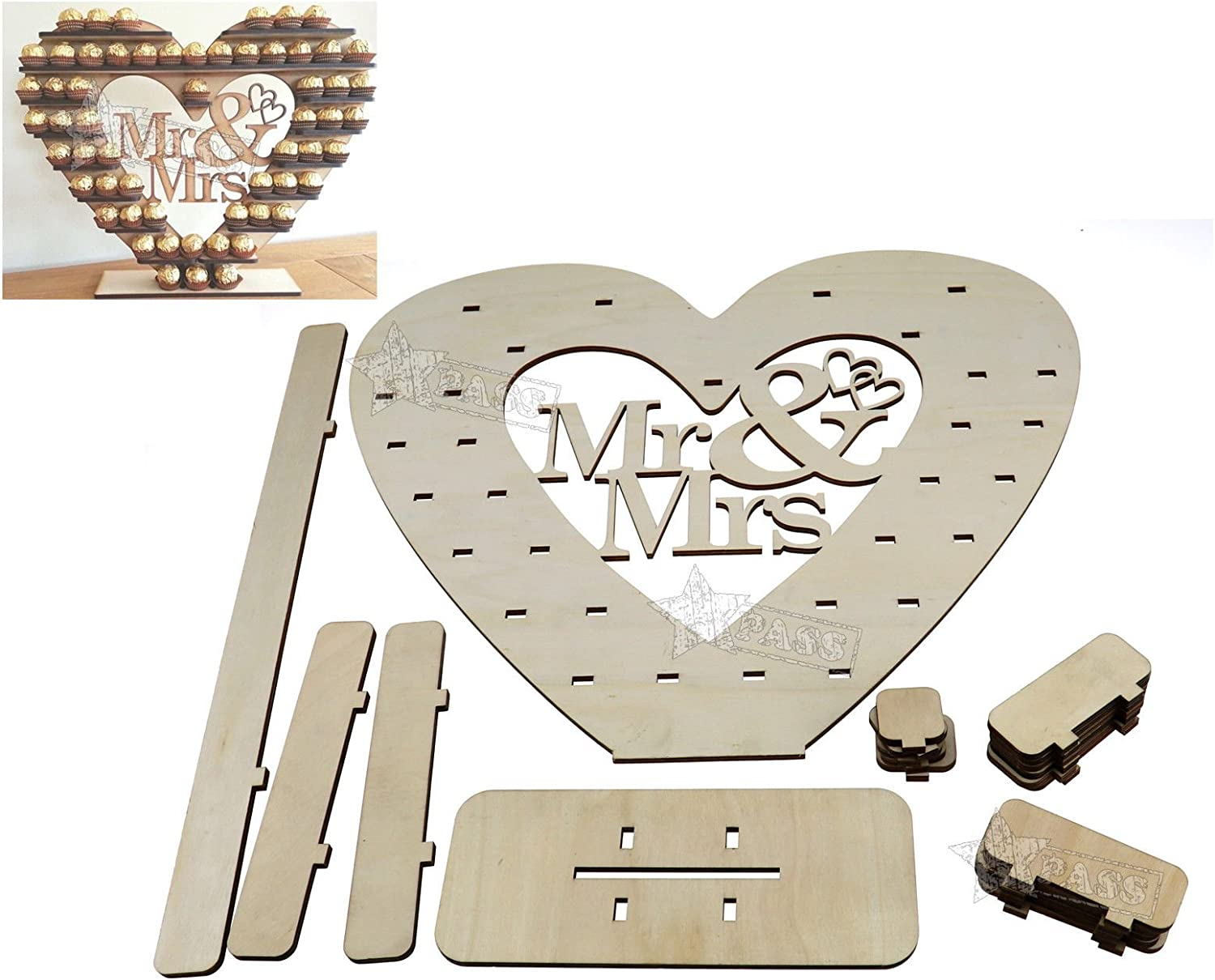 Generic .. ovable Mr&Mrs The Big Heart rt Tree Remo Mr&Mrs Holder Mr&Mrs Holde Chocolate Wedding older Cho Tree Removable e Wedd Table Decoration able Decorat ..