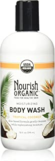 Nourish Organic Moisturizing Cream Body Wash, Tropical Coconut, 10 Fluid Ounce