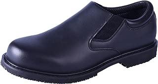 DDTX Men's SRC Anti-Slip Work Shoes Slip-on Oil Resistant Chef Shoes EH Protection Uniform Dress Shoes Black