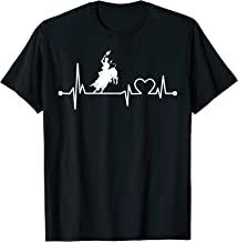 Bull Rider Heartbeat Funny Love For Bull Riding Cool Gift T-Shirt