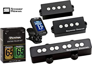 Seymour Duncan Quarter Pound Bass PJ Set P-J Pickup Bundle w/ True Tune Tuner and Dunlop Care Kit