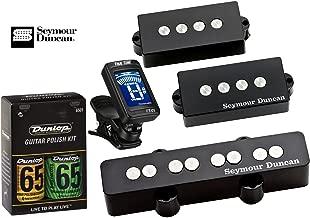 Seymour Duncan Quarter Pound Bass PJ Set P-J Pickup Bundle w/ True Tune Tuner and Dunlop Care Kit