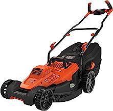 Black+Decker BEMW481BH-QS grasmaaier, bekabeld, 6 in hoogte verstelbaar, 20, 30, 40, 50, 60 en 70 mm, 1800 W, oranje, 42 cm