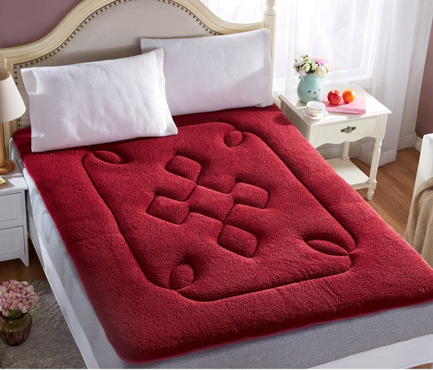 Tatami Mattress Velvet Mattress Student Dormitory Bed mat Single and Double Sponge Pads are Padded Mattress-A 120x200cm(47x79inch)