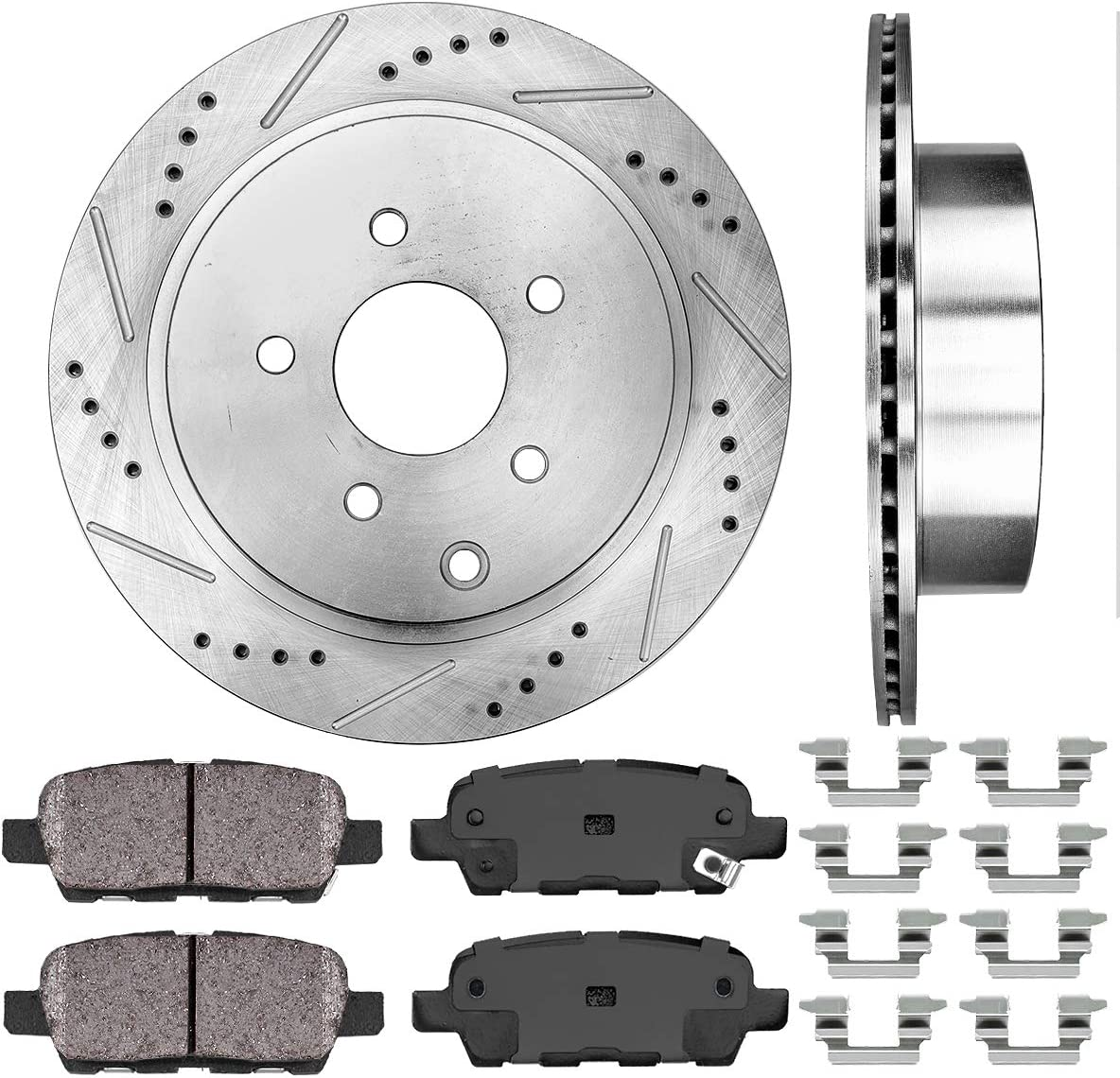 Callahan Max 67% OFF CDS02043 REAR 308 Gifts mm Premium D 5 Disc S R Lug Brake 2