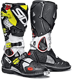 Sidi Crossfire 2 TA Offroad Boots White Black Yellow (US 11)