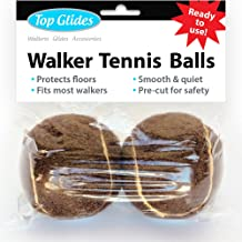Top Glides Precut Walker Tennis Ball Glides (Brown)