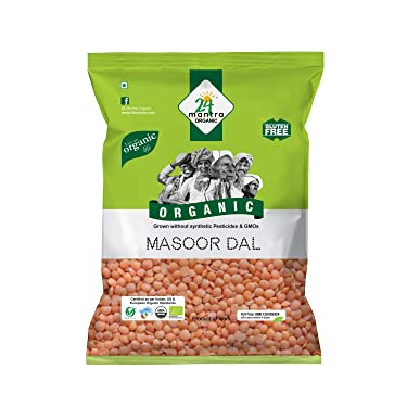 24 Mantra Organic Masoor Dal Organic Split, 500g