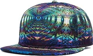 3D Galaxy Animal Starry Print Flatbill Visor Snapback Baseball Hat Neon Sign