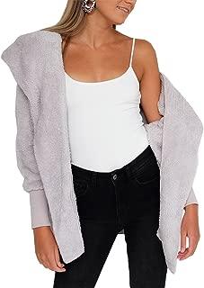 Women Casual Long Sleeve Cardigan Warm Hooded Jacket Winter Coat Outwear