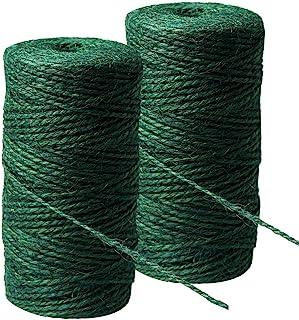 200m Green String, Garden Twine Jute Rope Natural String Rope Hemp Rope Jute Christmas Twine String for Gardening, Florist...