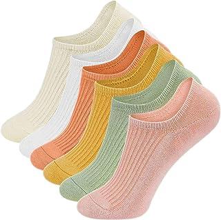 6 pares Calcetines Cortos Mujer/Hombre Deportes invisibles Calcetines Antideslizantes de corte bajo
