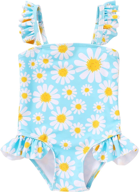Brand new Max 80% OFF Toddler Baby Girls One-Piece Swimsuit St Twins Rainbow Beachwear