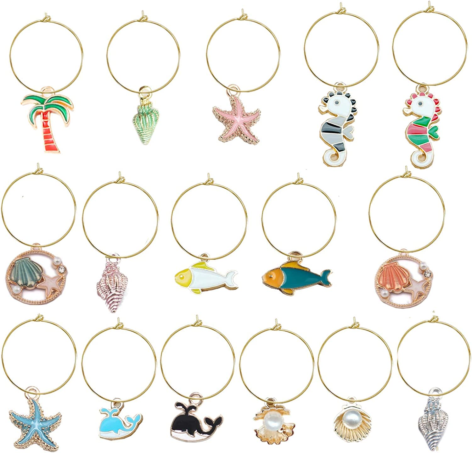 Wine Glass Charms Markers S Max 78% OFF Dealing full price reduction Tags Identification for