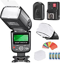 Neewer VK750II i-TTL Flash Kit Compatible with Nikon DSLR D7100 D7000 D5300 D5200 D5100 D5000 D3200 D3100 D3300 D90 D800 with Color Gel Filters, Hard and Soft Diffuser, Wireless Trigger